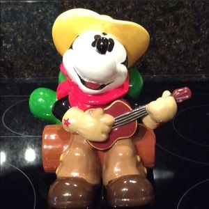 World of Disney Cookie Jar Mickey Mouse Cowboy